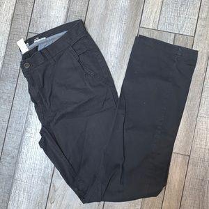 slim straight black khaki
